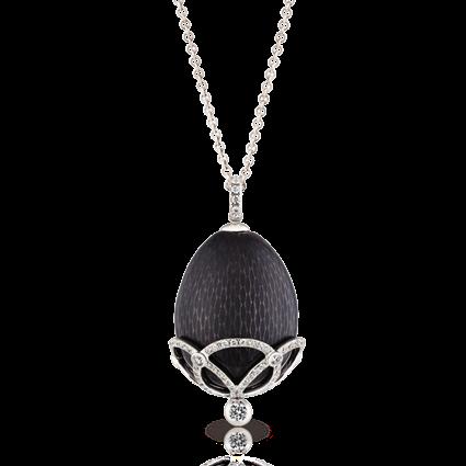Fabergé Egg Pendant - Oeuf Olga Prune