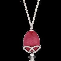 Faberge Egg Pendant - Emaux Olga Cardinal Red Pendant