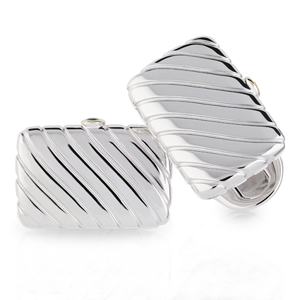 Faberge Cufflinks - Konstantin Emerald Cufflinks
