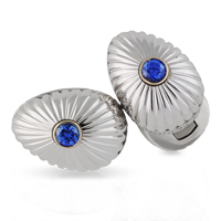 Faberge Cufflinks - Grigori Sapphire and Diamond Cufflinks