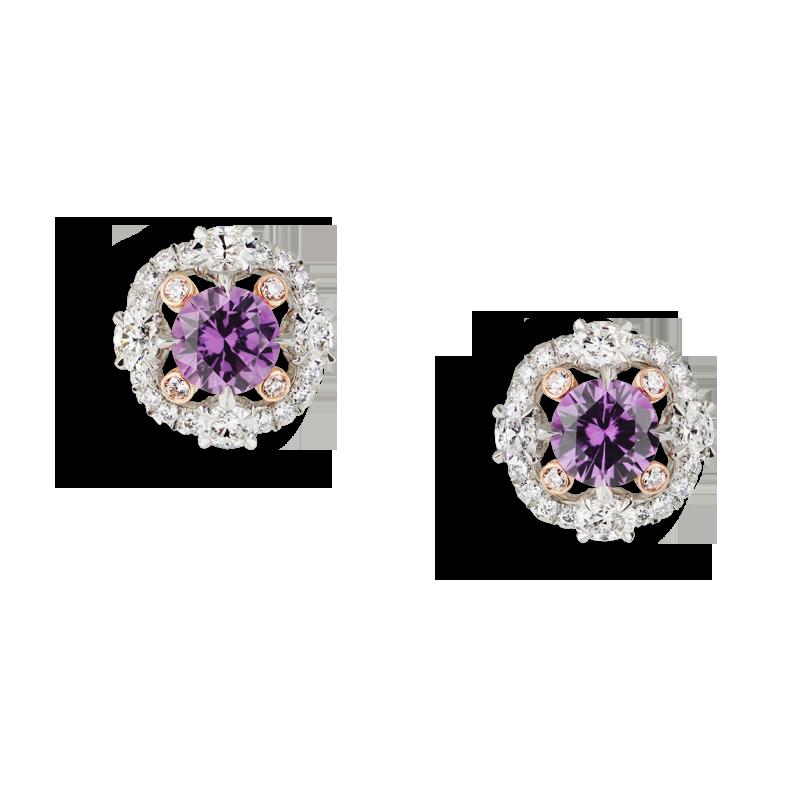 Faberge Earrings - Marie Fuchsia Sapphire Ring