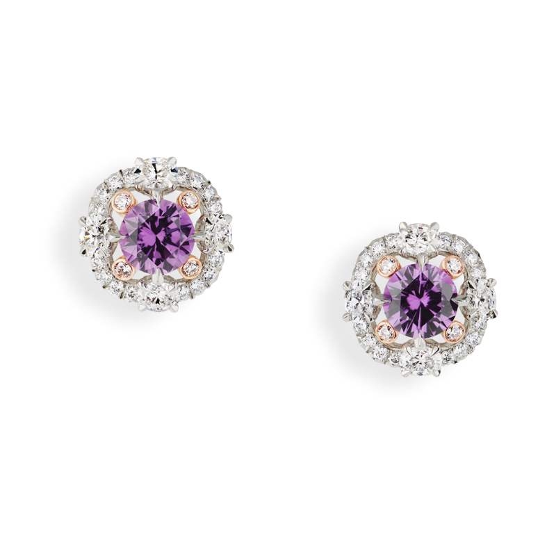 Faberge Earrings - Marie Fuchsia Sapphire Ring