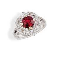 Faberge Rings - Xenia Ruby Ring