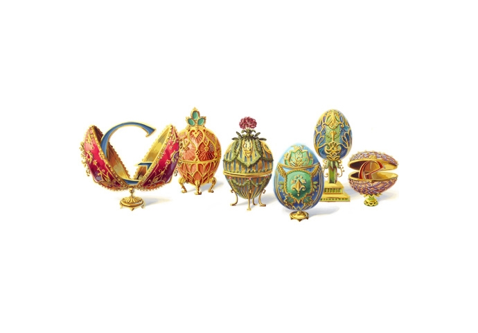 PETER CARL FABERGÉ'S 166TH BIRTHDAY CELEBRATED WITH GOOGLE DOODLE