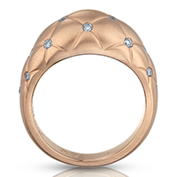 Faberge Rings - Treillage Diamond Rose Gold Matt Ring