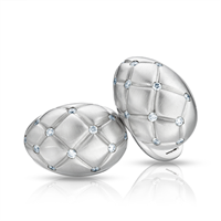 White Gold and Diamond Cufflinks - Fabergé  Treillage Diamond White Gold Matt Cufflinks