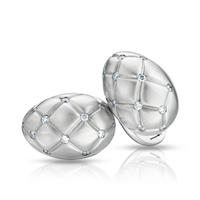 Treillage Diamond & Brushed White Gold Cufflinks