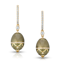 Fabergé Egg Earrings - Palais Anichkov Olive Green Earrings