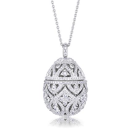 Faberge Egg Pendant – Zenya Diamond Egg Pendant
