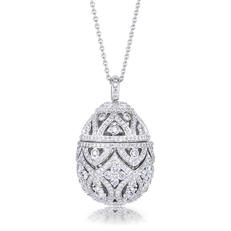 Zenya diamond egg pendant faberg faberge egg pendant zenya diamond egg pendant aloadofball Choice Image