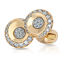 Champagne & White Diamonds & Rose Gold Cufflinks | Fabergé
