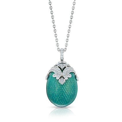 Faberge Egg Pendants - Emaux Sophia Green Pendant