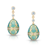 Palais Tsarskoye Selo Diamond Turquoise Earrings