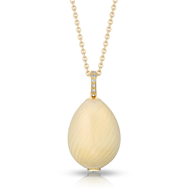 Fabergé Egg Pendant - Pure White Pendant