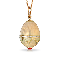 Faberge Egg Pendant - Palais Anichkov Pearlescent Pink Pendant