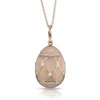 Faberge Egg Pendant - Palais Pavlovsk Soft Pink Pendant