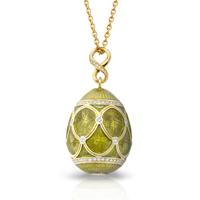 Faberge Egg Pendant - Palais Pavlovsk Bronze Pendant