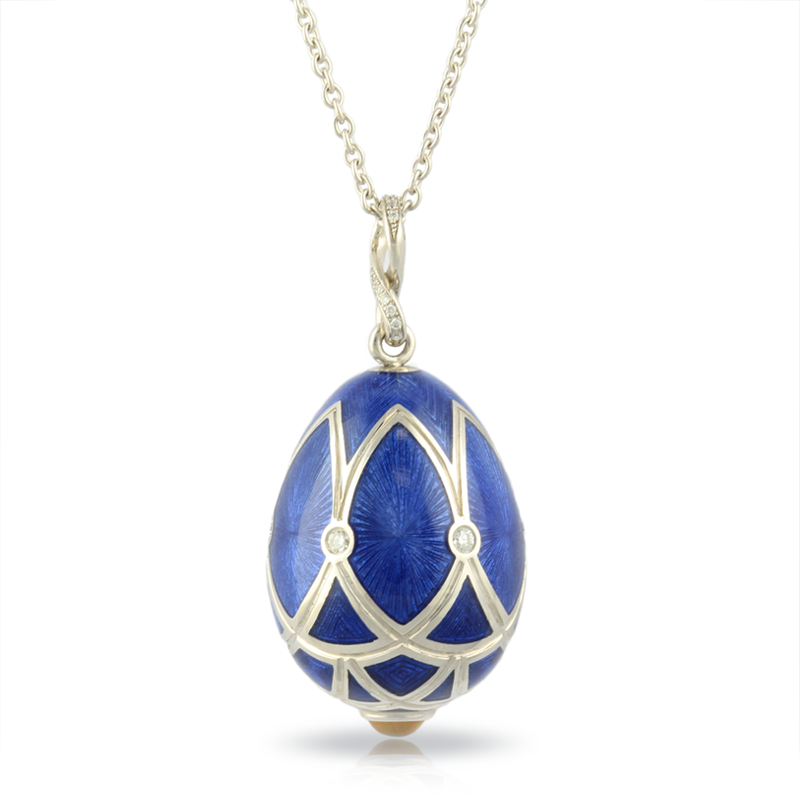 Faberge Egg Pendant - Palais Pushkin Royal Blue Pendant