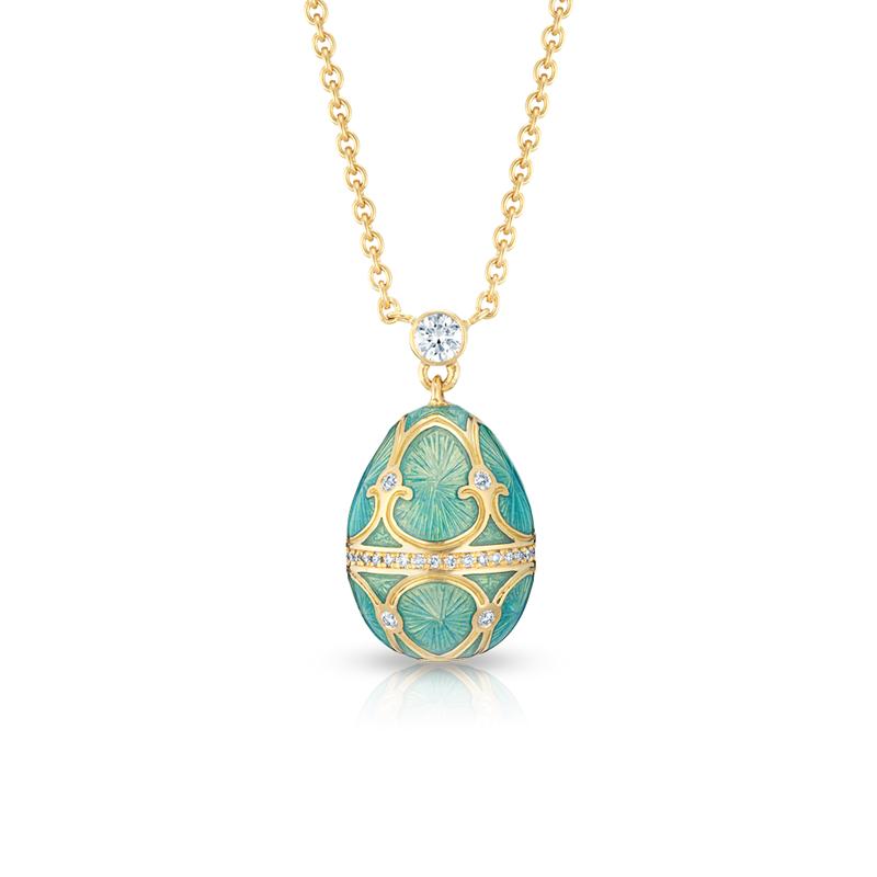 Fabergé Egg Pendant - Palais Tsarskoye Selo Diamond Turquoise Small Pendant