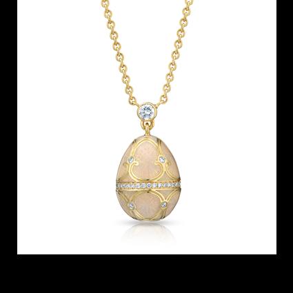 Fabergé Egg Pendant - Palais Tsarskoye Selo Diamond White Small Pendant