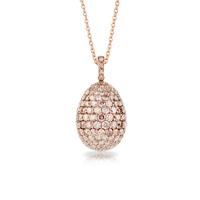 Faberge Egg Pendant - Ballet Russes Rose Pendant
