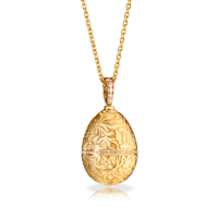 Faberge Egg Pendant - Lily Rose Gold Pendant