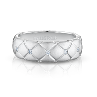 White Gold & Diamond Thin Ring | Fabergé