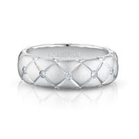 White Gold & Diamond Thin Ring | Fabergé