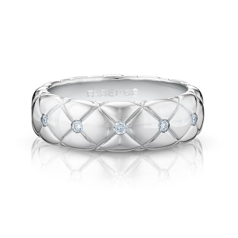 White Gold Diamond Ring | Fabergé