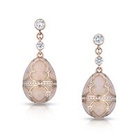 Palais Tsarskoye Selo Diamond Rose Earrings