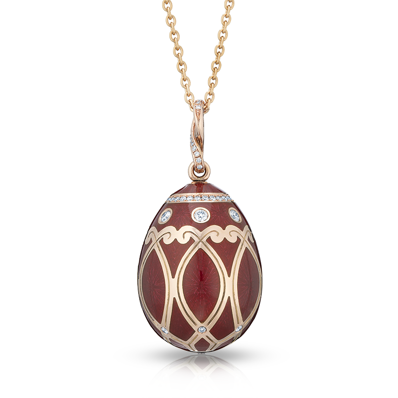 Faberge Egg Pendant - Palais Yelagin Cherry Red Pendant