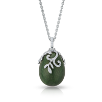 Faberge Egg Pendant - Emaux Nina Emerald Green Pendant