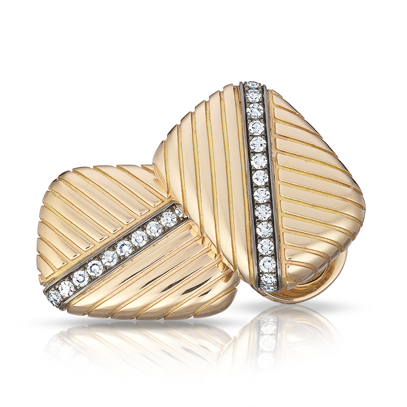 Sergei Diamond & Yellow Gold Cufflinks | Fabergé