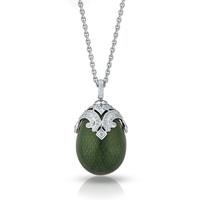 Faberge Egg Pendant - Emaux Sophia Emerald Green Pendant