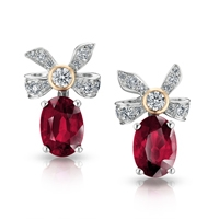 Ruby Diamond Earrings - Fabergé Alix Ruby Earrings
