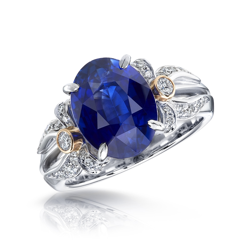 Alix Blue Sapphire, White Gold & Diamond Ring | Fabergé