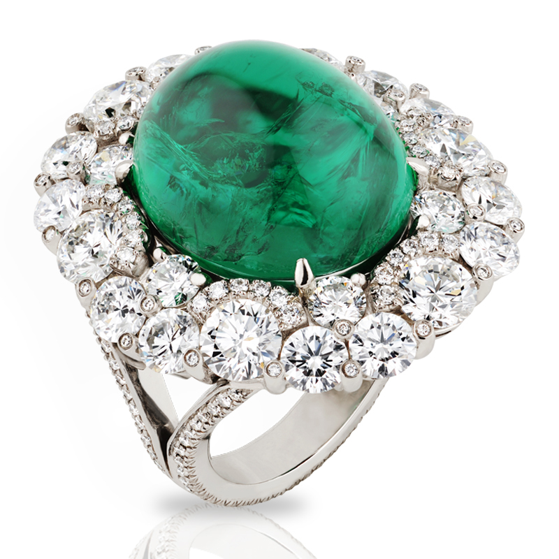 Faberge Rings - Devotion Cabochon Emerald Ring