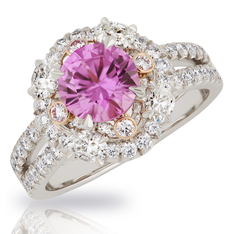 Faberge Rings - Marie Fushia Sapphire Ring