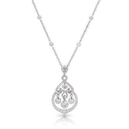 Diamond Pendant - Fabergé  White Damask Pendant