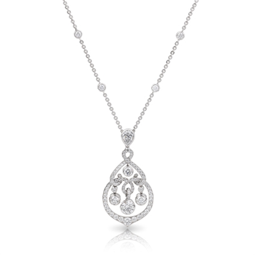 White Gold Diamond Pendant | Fabergé