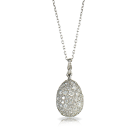 Diamond Egg Pendant - Fabergé  Zarista Diamond Pendant