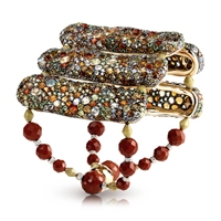 Fabergé Tzigane Bracelet – features 1,275 stones, including pink and yellow diamonds, white diamonds, demantoids, moonstones, fire opals, tsavorites, and spessartites, and jasper set in sterling silver and 18kt yellow and white gold.