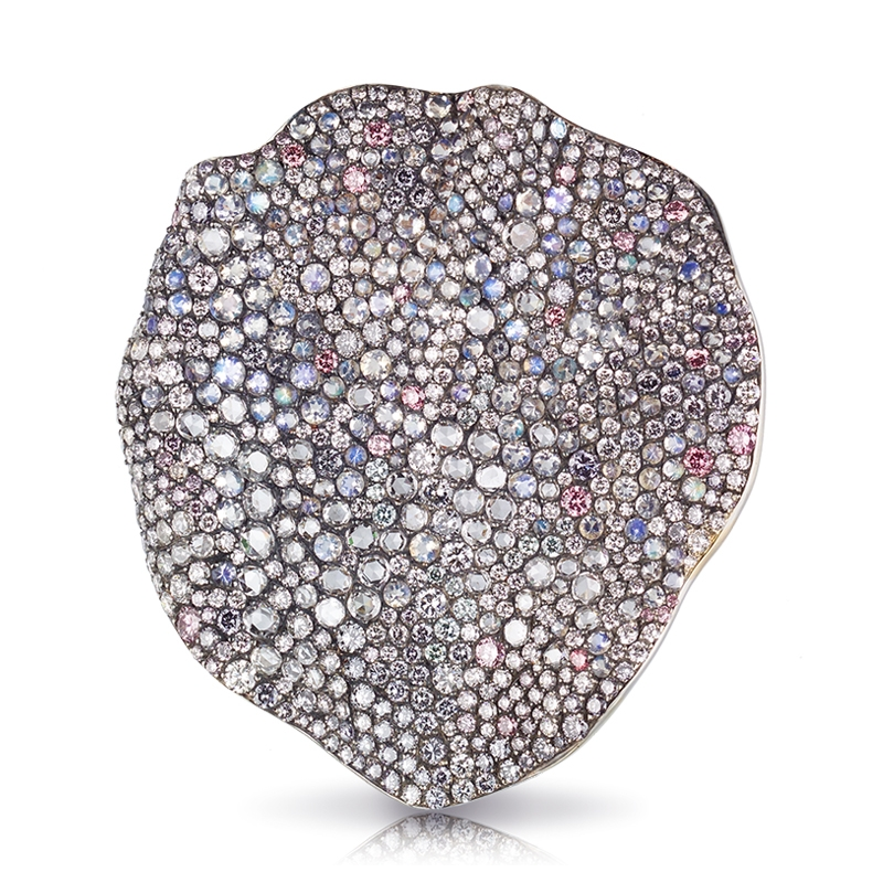 Diamond Brooch - Fabergé Love Rose Petal Brooch