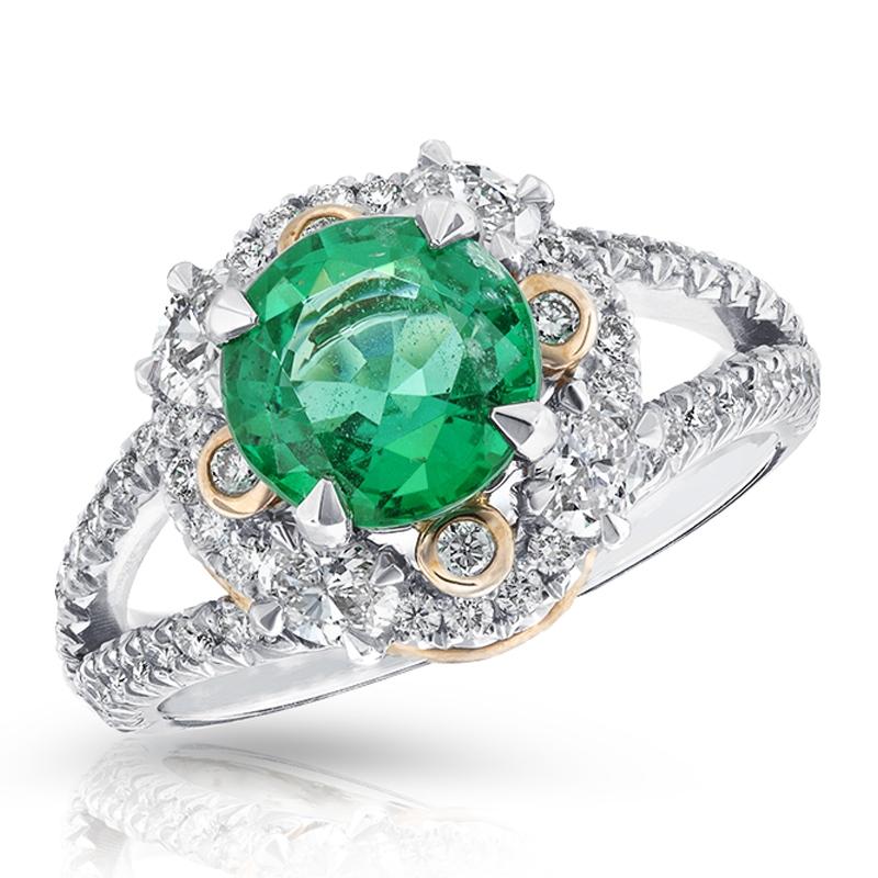 Platinum, Diamond, Gold & Emerald Marie Ring | Fabergé