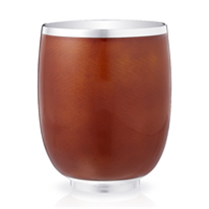 Sterling Silver Orange Guilloché Enamel Beaker | Fabergé
