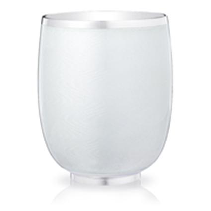 Water Beaker - Fabergé Constructivist White Guilloché Enamel Water Beaker