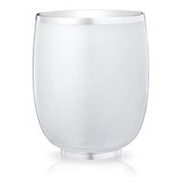 Constructivist White Guilloché Enamel Water Beaker
