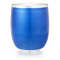 Constructivist Royal Blue Guilloché Enamel Water Beaker