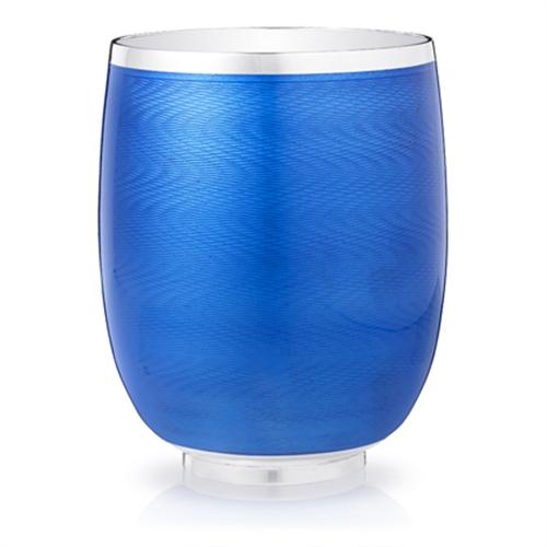 Water Beaker - Fabergé Constructivist Royal Blue Guilloché Enamel Water Beaker