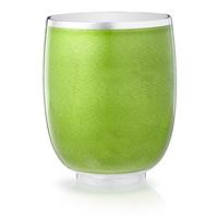 Constructivist Green Guilloché Enamel Water Beaker